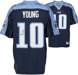 Tennessee Titans Vince Young Signed Jersey - Mounted Memories