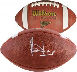 Vince Young Texas Longhorns Autographed NCAA Football - Mounted Memories