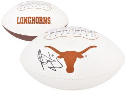 Vince Young Texas Longhorns Autographed White Panel Pro Football - Mounted Memories