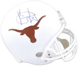 Vince Young Texas Longhorns Autographed Riddell Replica White Helmet