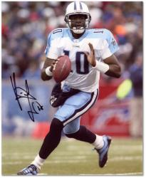 "Vince Young Tennessee Titans Autographed 8"" x 10"" Ball In One Hand Photograph"