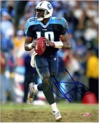 "Vince Young Tennessee Titans Autographed 8"" x 10"" Ball In Both Hands Photograph"