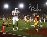 Vince Young Texas Longhorns Autographed 8'' x 10'' Winning TD Shot Photograph