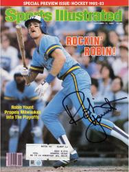 Robin Yount Milwaukee Brewers Autographed 1982 Rockin Robin Sports Illustrated Magazine