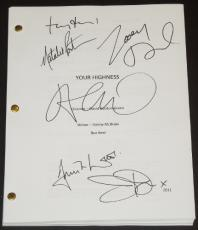 YOUR HIGHNESS Signed - Autographed Script by James Franco, Natalie Portman, Toby Jones, Justin Theroux, Zooey Deschanel, and Damian Lewis