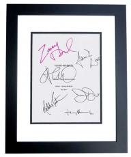 YOUR HIGHNESS Autographed Script by James Franco, Natalie Portman, Toby Jones, Justin Theroux, Zooey Deschanel, and Damian Lewis BLACK CUSTOM FRAME