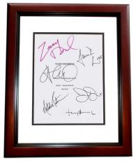 YOUR HIGHNESS Autographed Script by James Franco, Natalie Portman, Toby Jones, Justin Theroux, Zooey Deschanel, and Damian Lewis MAHOGANY CUSTOM FRAME