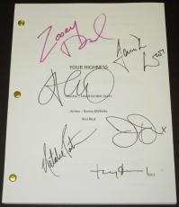 YOUR HIGHNESS Autographed Script by James Franco, Natalie Portman, Toby Jones, Justin Theroux, Zooey Deschanel, and Damian Lewis