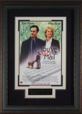 You've Got Mail signed 22X30 Masterprint Poster Leather Framed w/ Tom Hanks & Meg Ryan (movie/entertainment/photo)