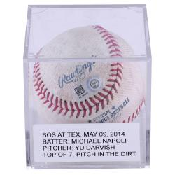 Yu Darvish Game-used Baseball From Start Versus Boston Redsox
