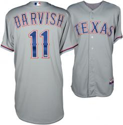Yu Darvish Texas Rangers 4/21/14 Game-Used Grey Jersey