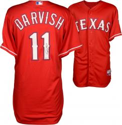 Yu Darvish Texas Rangers Autographed Red Authentic Jersey