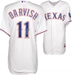 Yu Darvish Texas Rangers Autographed White Authentic Jersey