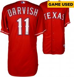 Yu Darvish Texas Rangers Game-Used Red Jersey from 6/28/14 vs. Minnesota Twins