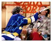 Yvon Barrette as Denis Lemieux Autographed Slap Shot TV Interview 8x10 Photo