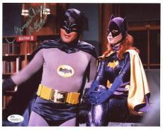 YVONNE CRAIG HAND SIGNED 8x10 COLOR PHOTO      BATGIRL+BATMAN   AWESOME      JSA