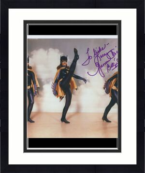 YVONNE CRAIG HAND SIGNED 8x10 COLOR PHOTO     SEXY BATGIRL       TO MIKE     JSA