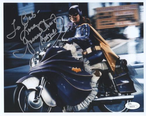 YVONNE CRAIG HAND SIGNED 8x10 COLOR PHOTO     BATGIRL ON CYCLE     TO BOB    JSA