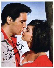 YVONNE CRAIG HAND SIGNED 8x10 COLOR PHOTO+COA    KISS ON NOSE FROM ELVIS PRESLEY