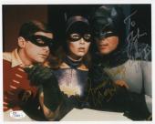 YVONNE CRAIG+ADAM WEST HAND SIGNED 8x10 COLOR PHOTO    BATMAN+BATGIRL        JSA