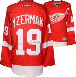 Steve Yzerman Autographed Red Wings Jersey