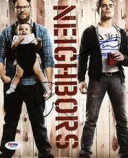 Zac Efron & Seth Rogen Neighbors Signed 8x10 Photo Psa/dna #w79731