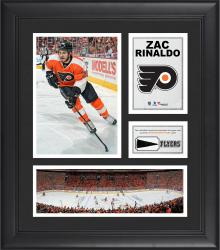 """Zac Rinaldo Philadelphia Flyers Framed 15"""" x 17"""" Collage with Piece of Game-Used Puck"""