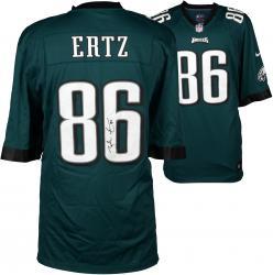Zach Ertz Philadelphia Eagles Autographed Nike Game Green Jersey