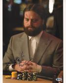 Zach Galifianakis Signed 11x14 Photo BAS Beckett COA The Hangover Picture Auto'd
