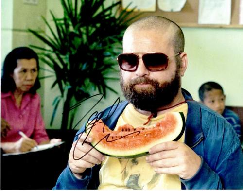 Zach Galifianakis Signed - Autographed The HANGOVER 11x14 inch Photo - Guaranteed to pass PSA or JSA