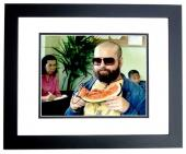 Zach Galifianakis Signed - Autographed The HANGOVER 11x14 inch Photo BLACK CUSTOM FRAME - Guaranteed to pass PSA or JSA
