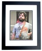 Zach Galifianakis Signed - Autographed The Hangover 8x10 inch Photo - Guaranteed to pass PSA/DNA or JSA - BLACK CUSTOM FRAME