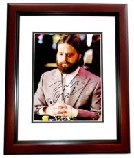 Zach Galifianakis Signed - Autographed The Hangover 8x10 inch Photo - Guaranteed to pass PSA/DNA or JSA - MAHOGANY CUSTOM FRAME