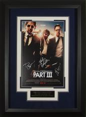 Zach Galifianakis signed The Hangover Part III 22X30 Masterprint Poster Custom Black Framed 3 sigs (movie/entertainment/photo)