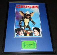 Zach Galligan Signed Framed 18x24 Gremlins Photo Poster Display