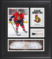 """Zack Smith Ottawa Senators Framed 15"""" x 17"""" Collage with Piece of Game-Used Puck"""