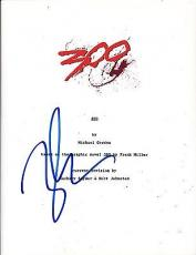 Zack Snyder Signed 300 Full Script 107 Page Authentic Autograph Coa