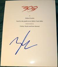 "Zack Snyder Signed Autograph Rare ""300"" Full 107 Page Movie Script With Coa"