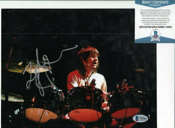ZAK STARKEY signed (THE WHO) Drummer RINGO STARR 8X10 photo BECKETT BAS T42904