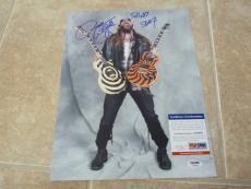 Zakk Wylde 2007 Ozzy BLS Signed Autographed 11x14 Photo PSA Certified