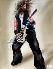 Zakk Wylde Black Label Society Signed 11x14 Photo Jsa