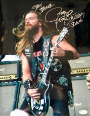 Zakk Wylde Black Label Society Signed 11x14 Photo Jsa Q06431