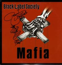 Zakk Wylde Black Label Society Signed Mafia Album Cover UACC RD COA AFTAL