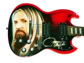 Zakk Wylde BLS Autographed Airbrushed SG Style Guitar AFTAL