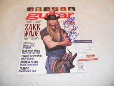 Zakk Wylde BLS Ozzy Signed Autographed Magazine Cover Photo PSA Certified