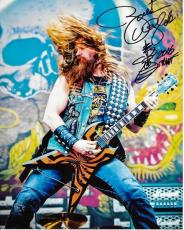 Zakk Wylde Signed - Autographed Black Label Society 8x10 Photo with Guitar Drawing and Inscription