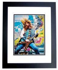 Zakk Wylde Signed - Autographed Black Label Society 8x10 Photo with Guitar Drawing and Inscription BLACK CUSTOM FRAME