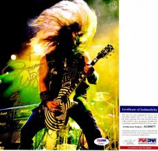 Zakk Wylde Signed - Autographed Black Label Society 8x10 inch Photo with PSA/DNA Certificate of Authenticity (COA) and Guitar Drawing and Inscription
