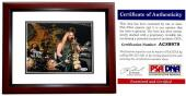 Zakk Wylde Signed - Autographed Black Label Society 8x10 inch Photo with PSA/DNA Certificate of Authenticity (COA) and Guitar Drawing and Inscription MAHOGANY CUSTOM FRAME
