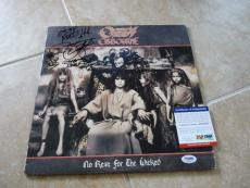 Zakk Wylde Signed Autographed Ozzy No Rest For the Wicked LP Album PSA Certified